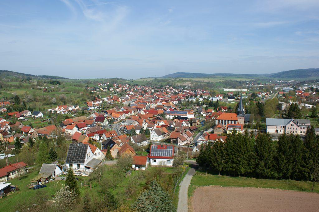 Viernau in Thüringen nahe des Rennsteigs